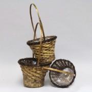 [6022B] Bamboo Hand Woven Basket-S/3