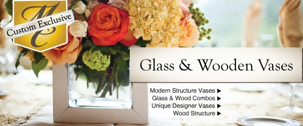 Glass & Wooden Vases
